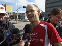 Photo : tiré des images du reportage TVS Rimouski Événement : 2010 Marathon de Rimouski